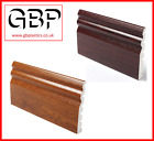 70mm or 125mm Ogee Torus UPVC Architrave 2 x 2.5Mtr Golden Oak Rosewood Grain