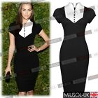 Womens White&Black Offices Business Summer Casual  Bodycon Dresses Size 81024