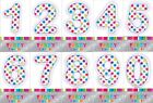 Artwrap Polka Dot Assorted Number 1 2 3 4 5 6 7 8 9 0 Birthday Party Candle