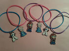 6 DISNEY FROZEN GUMMY BRACELET BANDS ANNA, ELSA, OLAF PARTY LOOT BAG FAVOUR