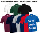Personalised / Custom Printed Polo T shirts Stag night work uniforms club S-XXL