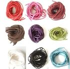 5m x 3mm Faux Suede Cord Thong Lace Choose your Colour! High Quality