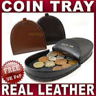 Mens Gents Leather Coin tray purse wallet change Black Brown Tan men NEW