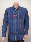 Peter England Cotton Casual Shirt Blue with White Check Button down collar S-XXL