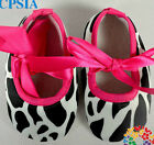 Baby Girls Shoes black  white pink  party newborn  Pram bow summer holiday