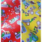 Printed Polycotton Fabric with Trucks & Diggers Print  - 2 Colours *Per Metre*