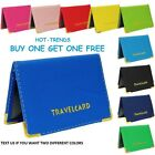 2 LEATHER OYSTER TRAVEL CARD BUS PASS HOLDER WALLET RAIL CARD COVER CASE NEW