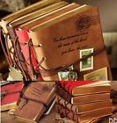DI US Retro Classic Vintage Leather Bound Blank Pages Journal Diary Notebook