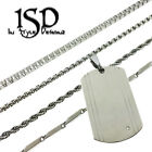 """Stainless Steel Men's Chain And Dog Tag Pendant Charm Assorted Necklace 24""""D"""