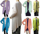 Long Sleeve Waterfall Drapes Down Cardigan  UK Size 8 - 22 (Summer)