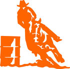 """Western Horse Barrel Racer Decal- Exterior Window Decal 6""""x6""""- FREE SHIPPING!"""