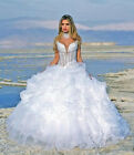 2014 New White Bridal Gown  Wedding Dress Size: 6/8/10/12/14/16