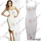 Womens Elegant Summer Bodycon Pencil Ladies Long Fitted Celebrity Cocktail Dress