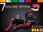 NEW For APRILIA BMW CNC Brake Clutch Levers Fluid Reservoir Universal Aluminum