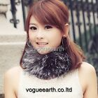 662 New real knitted Fox/Raccoon fur 5 color neck warmer/hat
