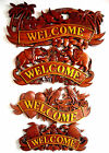 Wooden Carved  Handmade Signs Welcome  Plaque Wall  Or Door Decoration