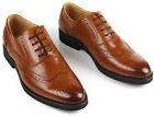 New Men's Cow Leather Shoes G0152 Black Brown Dress Formal Business Lace-up 5~11