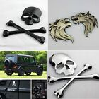2014 Car Auto motorcycle wall Logo 3D Metal Emblem Badge Decals Skeleton Wolf