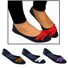 Ladies Womens Flat Slip On Shoes Low Casual Style Canvas Comfort Ballet Loafers