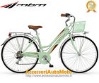 "BICI MBM TOURING WOMAN RUOTE 28"" BICICLETTA DONNA TREKKING CITY BIKE MENTA 18S"
