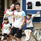 New Summer Family Set Sports T shirt+Pants sets Parent child outfit clothes 2pcs