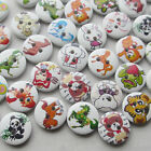 100/500PCS 15mm Carton Animal Wood Buttons Sewing Kid's Craft Mix Lots
