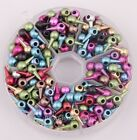 Hot 100pcs Punk Style Mixed Color Stud Spike Rivet Spacer Beads Bangle Bracelet