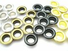Steel eyelets with inner diameter 9 mm various colors and quantities #124