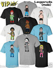 VIPwees Mens T-Shirt Male Solo Legends Music Inspired Caricatures Choose Design