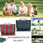 NEW LARGE FOLDING WATERPROOF PICNIC BLANKET BEACH TRAVEL OUTDOOR PET CAMPING RUG