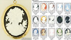 Large oval locket, people-themed cameos, various neck chain options