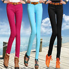 Hot Womens Sexy Candy Colors Pencil Pants Slim Fit Skinny Stretch Jeans Trousers