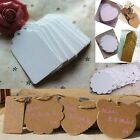 100pcs Fashion Kraft Paper Gift Tags Wedding Scallop Price Label Luggage