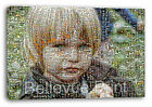 Your Photo Mosaic Canvas Print - Personalised on Box/Wrapped Many Size