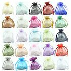 30/100pcs Luxury Organza Wedding Favor Gift Bags Jewellery Pouch