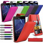Sony Xperia M2 Stylish Funky Pull Tab Flip Wallet Hard Case Cover