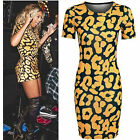 NEW WOMENS LADIES UK SIZE (8-16) BEYONCE VALENTINO ANIMAL LEAPORD BODYCON DRESS