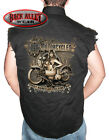 OLD MOTORCYCLES Sleeveless DENIM Shirt Biker Cut Vest Hot Babes & Cold Beer