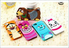 For Samsung Galaxy 3D Carton Sulley Tiger Cheshire Cat Silicone Gel Phone Case