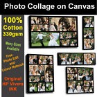 Your Photo Collage Canvas Print  100% Cotton 38mm Frame- Personalised on Box