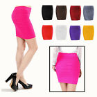 Ladies Women Mini Skirt Short Casual Sexy Waist Stretch Bodycon Party Slim Dress