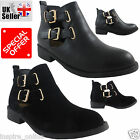 NEW WOMENS LADIES LOW BLOCK HEEL CHELSEA CUT OUT ANKLE GIRLS RIDING SHOES BOOTS