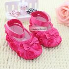 Cute Baby Girls Infant Toddler Prewalkers Flower Soft Sole First Walker Shoes