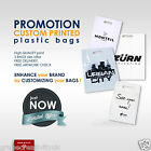 MEDIUM Plastic Carrier Bags with company logo & text Custom Printed Personalised