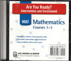 HOLT MATH: MATHEMATICS COURSES 1-3 - ARE YOU READY? ON CD - NEW!