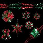 Green & Red - Christmas Foil Ceiling Hanging Decorations & Garlands