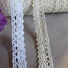 NATURAL WHITE 18mm SCALLOPED COTTON CROCHET LACE Trim (CL34) ♥ CHOICE OF LENGTH