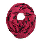 Western Horse Animal Print Block Circle Loop Wrap Infinity Scarf Cowboy Ranch