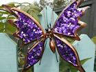 Garden Butterfly Wall Hanger FOUR Colours Available Sequinned Garden Butterfly