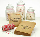 Personalised Brown Kraft Paper Wedding Favour Party Sweet Treat Bags - 7in x 5in